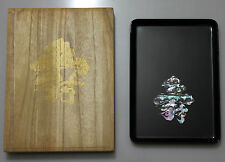 Plateau Japonais Laqué ( Urushi ) incrusté de coquillages - Modèle d'exposition