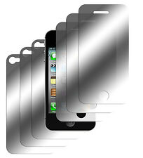 6 x Spiegelfolie iPhone 4 4S Schutzfolie Mirror 3x Vorder- + 3x Hinten Folie