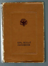 1940 Edition of Girl Scout Handbook with Dust Jacket & Leather type cover - VG