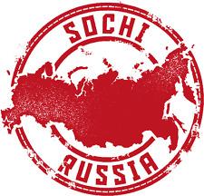 """Sochi Russia Map Travel  Stamp Car Bumper Sticker Decal 5"""" x 5"""""""