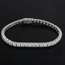 "3.50cttw D/VSS1 Diamond 14K Gold Over Classic 7.25"" Tennis Bracelet FINE EDH"