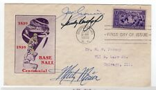 Baseball #855 FDC 1939 Autographed Joe Cronin, Sandy Koufax, Marty Marion w/ COA