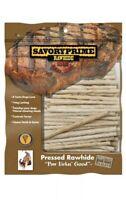 "Savory Prime 5"" White Rawhide Twist Sticks 100 Count Treats"