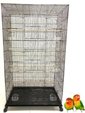 "55"" Large Flight Bird Sugar Glider Lovebird Canary Aviary Budgies Cage W/Stand"
