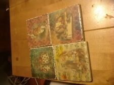 Alice In Wonderland Handmade 4 Coasters Shabby Vintage tile