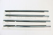 Toyota Land Cruiser 2016-18 OEM Genuine Chrome Front Rear Door Belt Moulding SET