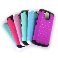 For HTC Desire 526 Case - Diamond Bling Hybrid Shockproof Tough Phone Cover