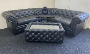 Chesterfield Corner Sofa in Bolero Leather