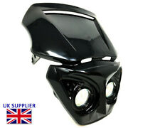 Motorcycle Headlight for Streetfighter or Cafe Racer Project - BLACK - 12V