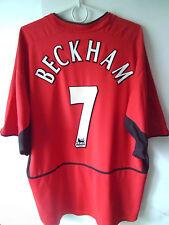 RARE!!! BECKHAM !!! 2002-03 Manchester United Home Jersey Trikot XXL