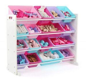 Large Toy Box Storage Chest Bin For Kids Room Playroom Organizer Wide Shelf Bins