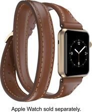 Griffin Apple Reloj 38mm Uptown Double-Wrap Banda – Toffee