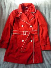 Manteau trench mi-saison ESPRIT rouge & blanc 38 - Red trench coat white details