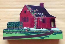 1999 Shelia'S Eugenia'S Cottage House, Saratoga, Ny, Wooden Figurine, Signed