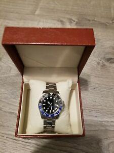 Fanmis GMT Automatic Watch - Rolex GMT Master II Batman Homage