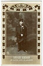 Ak Unser Kaiser im Alter von 10 Jahren NPG 1904