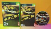 Driver 3 Driv3r -  Microsoft XBOX OG Game - 1 Owner Near Mint Disc Bought New !
