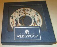 """1997 Wedgwood ornament White Jasper Annual Wreath Noel 3"""" in box"""
