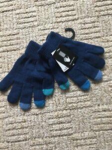 NEW Boys Girls Stretchy Gloves Touch Screen 5-6-7-8-9-10-11-12-13 Yrs BNWT