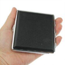 Articoli per fumatori Porta Sigarette Portasigarette in metallo Cuoio Nero Slim