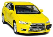 "5"" Kinsmart 2008 Mitsubishi Lancer Evolution X Diecast Model Toy Car 1:36 Yellow"