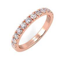 2mm Round Diamond Micro Pave Set Half Eternity Ring, UK Hallmarked 18k Rose Gold