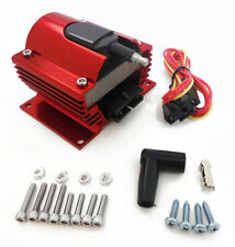 Ignition Coil 50,000 Volts E-Core External Power Coil 12V Street Racing RED