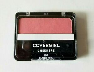 Covergirl Cheekers Smooth Powder Blush Face Makeup ~ 110 Classic Pink ~ 0.12 oz