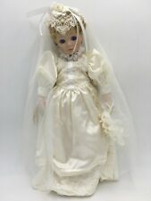 "Vintage 1992 Dolls by Pauline 18"" Hand-Painted ""Wedding Day"" Porcelain Doll"