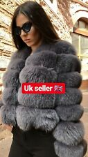 100% Real Genuine Leather And  Fox Fur Coat Jacket