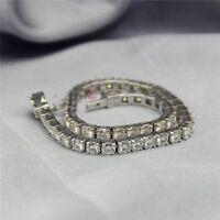 20.00 CT OFF WHITE MOISSANITE G - H DIAMOND 925 STERLING SILVER TENNIS BRACELET