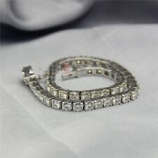 20.00 CT WHITE J REAL MOISSANITE DIAMOND 925 STERLING SILVER TENNIS BRACELET