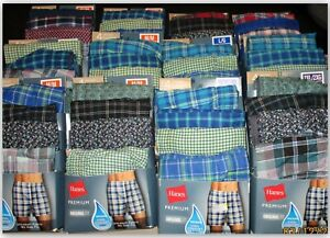Hanes Premium original fit Woven Boxers soft Wicking cool Comfort S M L XL 2XL