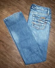 Silver Jeans Size 26 Womens Monica Distressed Straight Leg Jeans