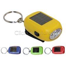 2 LED Rechargeable Mini Solar Power Flashlight Torch Key Chain Lamp Torch MX