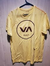RVCA The Balance of Opposites Graphic Tee T Shirt Ruca Yellow Soft