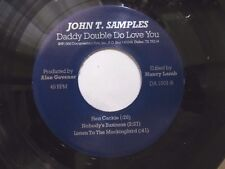 TEXAS BLUES EP: JOHN T. SAMPLES Daddy Double Do Love You SOLO GUITAR & HARMONICA