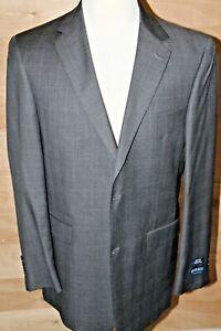 Austin Reed Dress Suit Jacket Blazer Wool 46 Long  Gray Plaid NEW