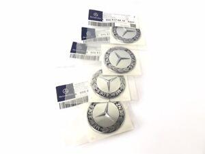 orig. Mercedes Stern Emblem Zeichen Aufkleber Selbstklebend (4 Stück)