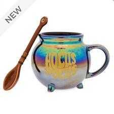 Disney Hocus Pocus Cauldron Shaped Mug and Broom Spoon Set