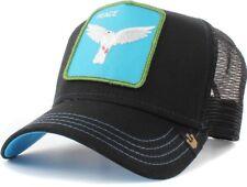 Goorin Bros Animal Farm Trucker Baseball Hat Cap Biblical Peace Dove Black White