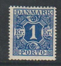 Denmark - 1921, 1k Deep Blue Postage Due stamp - M/M - SG D234