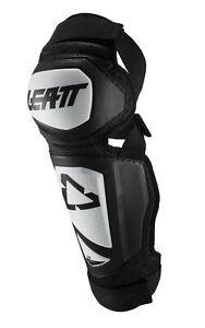 Leatt Knee & Shin Guard 3.0 EXT (Pair) Dirt Bike MX / MTB Bicycle - White/Black