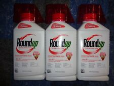 Roundup Weed Grass Killer Concentrate Plus Lot 3 Bottles 32 oz Each 96 oz Total
