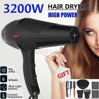 8X/Set 3200W Hair Blow Dryer Heat Tool Dryer Diffuser/Comb Salon Kit US Plug