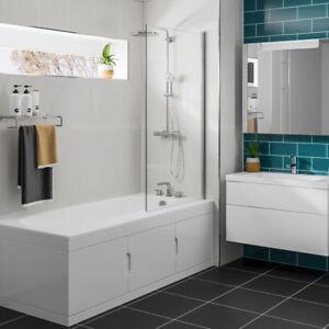 Badewanne Sylvi 167,5x76,5cm mit Einbauschrank und Duschkabine, Rechts