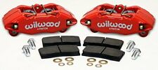 Wilwood 140-13029-R Brake Caliper and Pad Kit, Red, Front