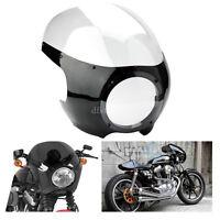 "Moto Clear Café Racer 5 3/4""phare Carénage Pare-Brise Pour Harley Sportster Dyna"