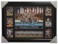 Cronulla Sharks 2016 Premiers Limited Edition NRL Print Framed Luke Lewis Gallen