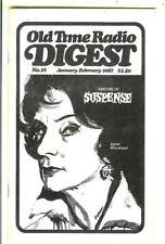 OLD TIME RADIO DIGEST #19, 1987, rare US digest mag Agnes Moorehead, Suspense p1